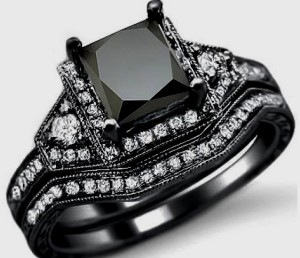 elegant cut black diamond ring and jewelry