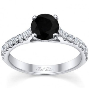 personalized black diamond wedding ring