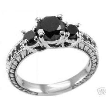 unique collections of black diamond engagement ring - Black Diamond Wedding Rings For Women