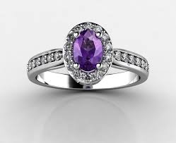about diamond and amethyst engagement rings