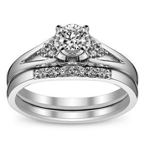 affordable white gold diamond rings for women