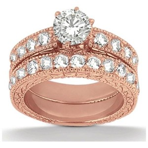 antique style rose gold engagement rings