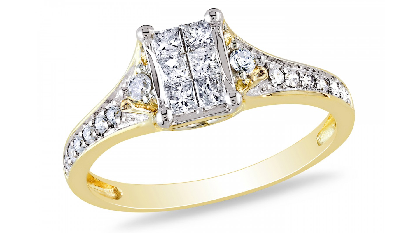 propose perfectly with gold rings black ring