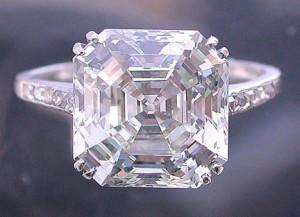 best antique asscher cut engagement rings