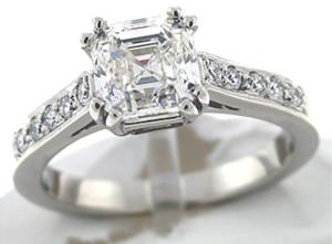 best asscher cut engagement rings