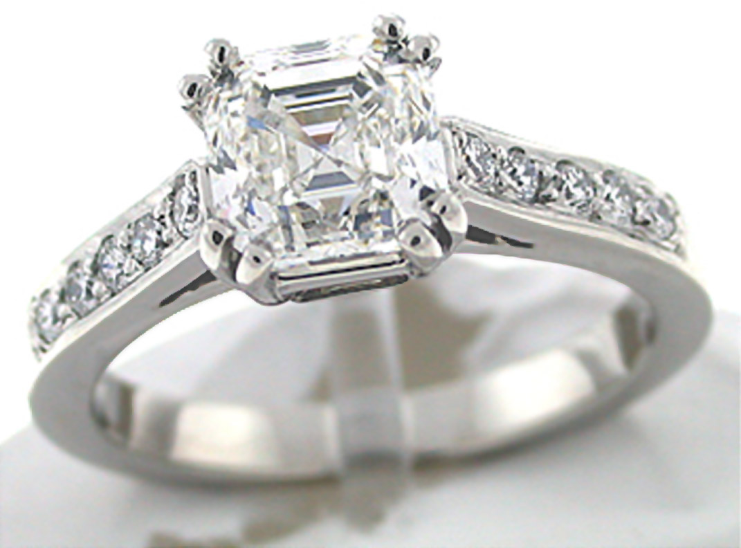 asscher cut engagement rings timeless and classic black diamond ring. Black Bedroom Furniture Sets. Home Design Ideas