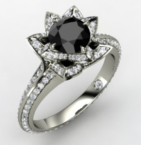 best black engagement rings