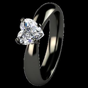 best black titanium engagement rings