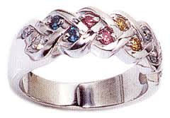best multi colored engagement rings