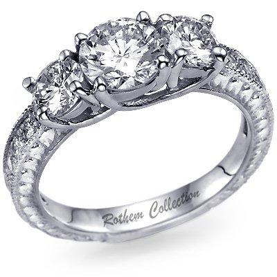 Basics Of Vintage Style Engagement Rings   Black Diamond Ring