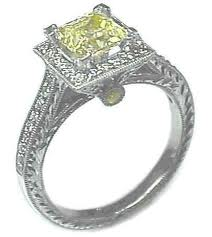 canary yellow diamond antique engagement rings
