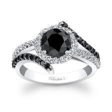 classic black diamond ring