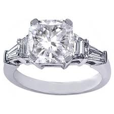 cushioned vintage style diamond engagement rings