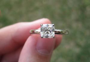 cute cushion cut solitaire engagement rings designs