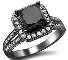 dark black diamond ring - Black Wedding Rings For Her