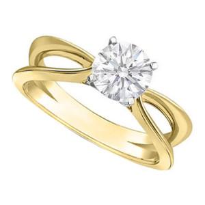 elegant yellow gold engagement rings