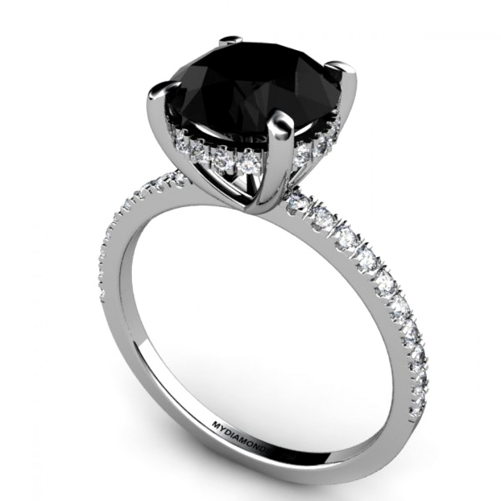 All about black diamond engagement rings black diamond ring for Black wedding rings with diamonds