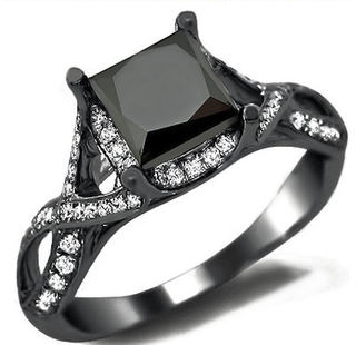 Propose Perfectly With Gold Diamond Rings | Black Diamond Ring