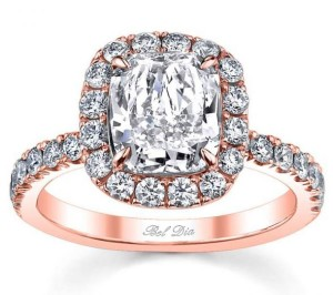 exquisite rose gold engagement rings
