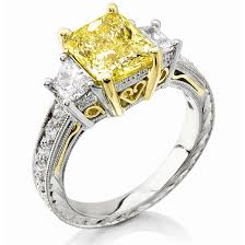 formal canary yellow diamond engagement rings