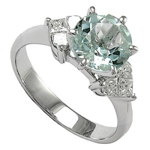 gem colored diamond engagement rings