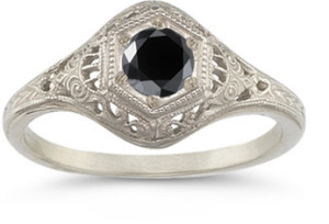 giveable black diamond ring
