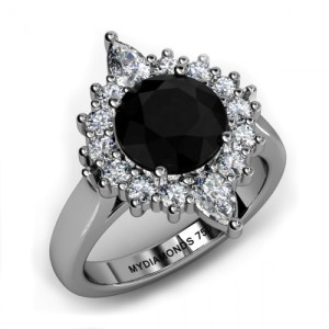most elegant black diamond ring