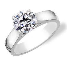 most unique round solitaire engagement rings