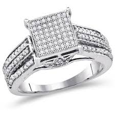 nice square engagement rings for women