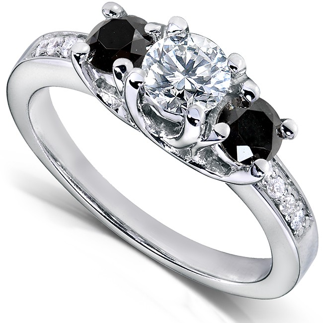 black and white engagement rings black ring
