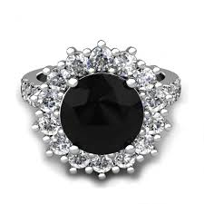 popular black diamond ring