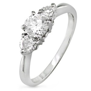 pretty white gold engagement rings