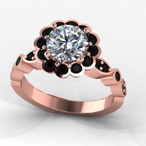 rose black diamond ring