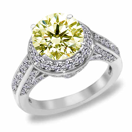 round and unique yellow diamond engagement rings