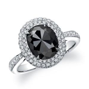 simple black diamond ring