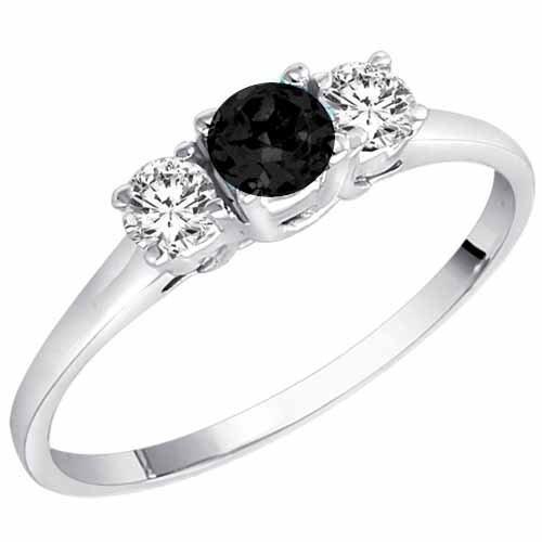 Obsidian Engagement Ring RingsCladdagh