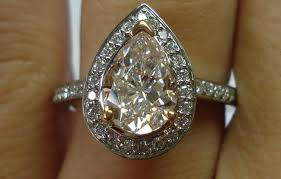 small but light pink diamond engagement rings
