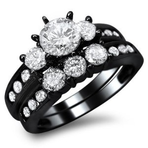 sophisticated black gold rings