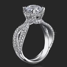 spakling palladium engagement rings for women