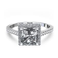 special princess cut halo engagement rings