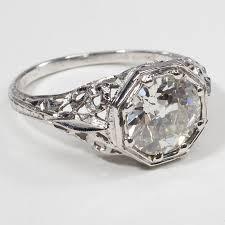 stylish antique diamond engagement rings