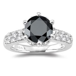 stylish black diamond ring