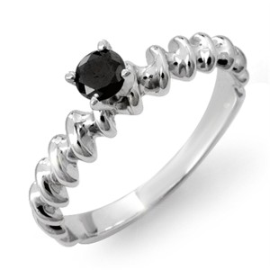 stylish black diamond ring