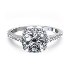 stylish cushion cut diamond engagement rings