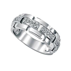 stylish mens white gold diamond rings
