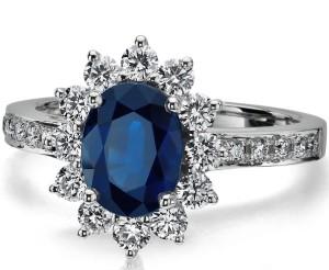 unique sapphire white gold ring