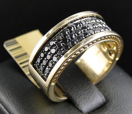Beautiful Black Diamond Ring for Men