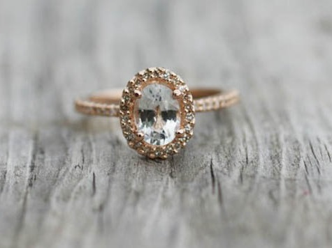 Gold With Oval Cut Engagement Rings