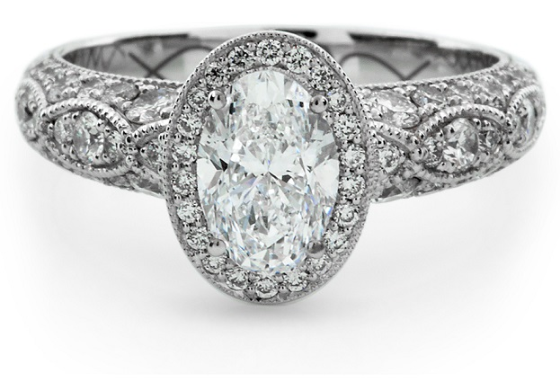 Womens Beautiful Oval Engagement Rings